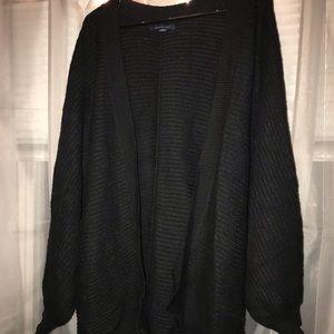 American Eagle Black Bubble Sleeve Cardigan